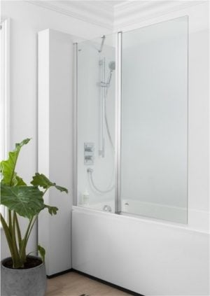 Crosswater - Click Double Bath Screen - Silver