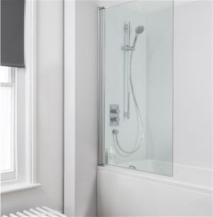 Crosswater - Click Single Bath Screen - Silver