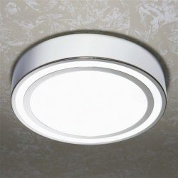 HiB - Spice Circular Ceiling Light 27 x 8.5cm - Chrome