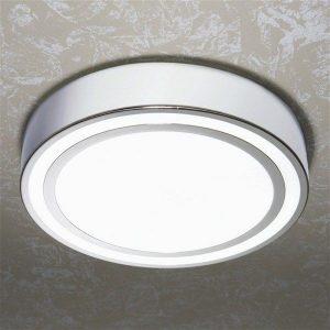 HiB - Spice Circular Ceiling Light 27 x 8.5cm - Chrome