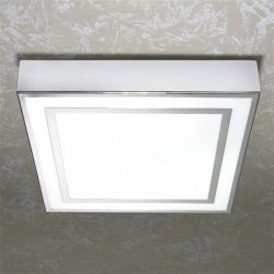 HiB - Yona Square Ceiling Light 26.5 x 26.5 x 5cm - Chrome
