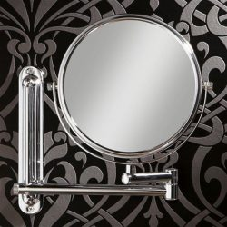 HiB - Tila Circular Double Arm Magnifying Mirror 20cm - Chrome