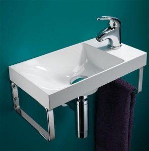 HiB - Ocean Washbasin 40 x 11 x 22cm - White