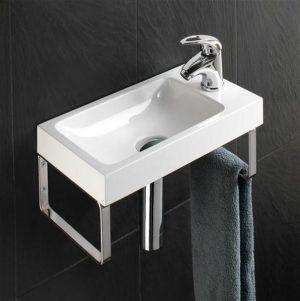 HiB - Delta Washbasin 40 x 10 x 22cm - White