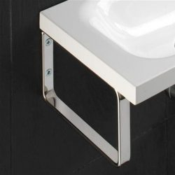 HiB - Support Brackets For Delta & Swirl Basins 21 x 12 x 2cm - Chrome