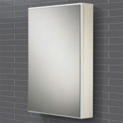 HiB - Tulsa Single Door Slimline Cabinet 50 x 70 x 10.5cm - Aluminium