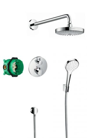 Hansgrohe - Design Croma Select S & EcoStat S Concealed Shower Pack