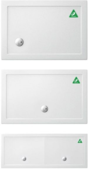 Crosswater - Rectangular Tray 1200 Anti Slip - White