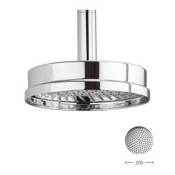 Crosswater - Waldorf 200mm Luxury Round Fixed Showerhead - Chrome