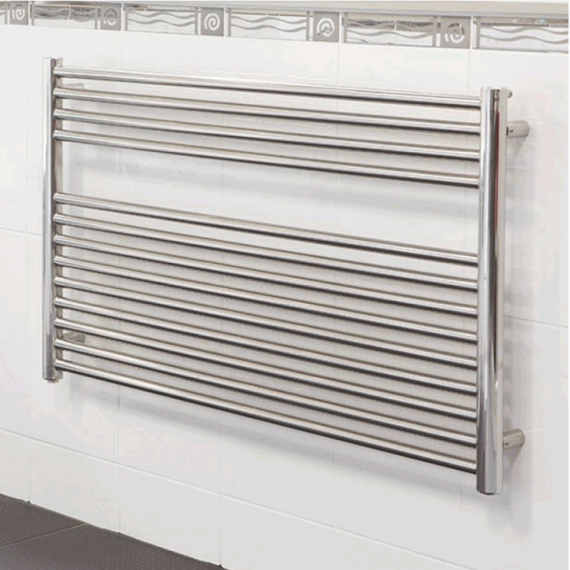 Radox - Premier Horizontal Towel Radiator 600(H) x 1000(W) - Stainless Steel