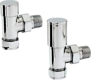 Zehnder - Chromax 15mm Angled Radiator Valve Set - Chrome
