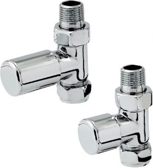 Zehnder - Chromax 15mm Straight Radiator Valve Set - Chrome