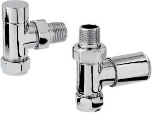 Zehnder - Chromax 15mm Mixed Mixed Radiator Valve Set - Chrome
