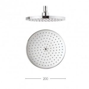 Crosswater - Central 200mm Round Fixed Overhead - Chrome