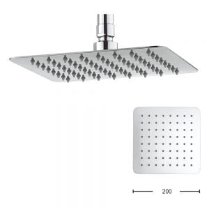 Crosswater - Glide 200mm Square Fixed Overhead Shower - Stainless Steel