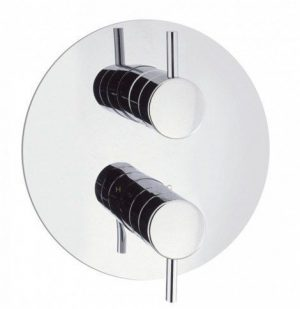 Crosswater - Kai Lever 1000 Thermostatic Shower Valve Round - Chrome