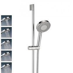 Crosswater - Central Shower Rail Kit with 5 Spray Modes - Chrome