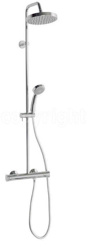 Crosswater - Design Multifunction Exposed Thermostatic Showerpipe - Chrome