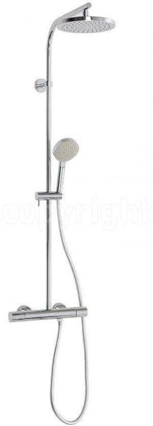 Crosswater - Cool Touch Multifunction Exposed Thermostatic Showerpipe - Chrome