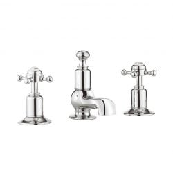 Crosswater - Belgravia Crosshead 3 Tap Hole Basin Mixer without Waste - Chrome