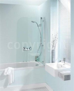Crosswater - Supreme Deluxe Bath Screen - Silver
