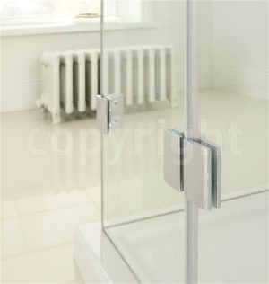 Crosswater - Pair of Design View Outward Opening Hinges - Silver