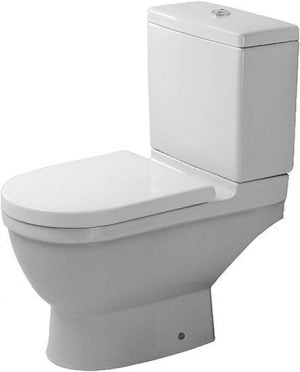 Duravit - Starck 3 Toilet Close Coupled Horizontal Outlet Washdown - White