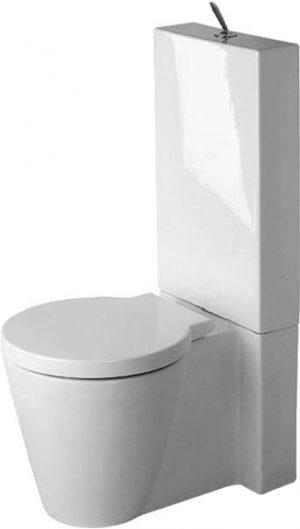 Duravit - Starck 1 Toilet Close Coupled Vario Outlet Washdown - White