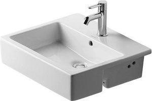 Duravit - Vero Semi-Recessed Washbasin 550mm 1TH - White
