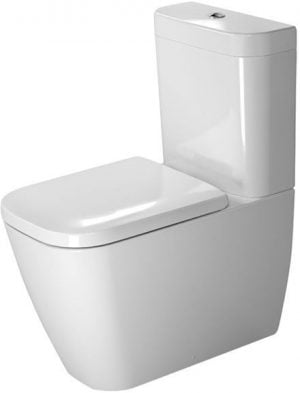 Duravit - Happy D.2 Toilet Close Coupled 630mm Washdown Vario Outlet - White
