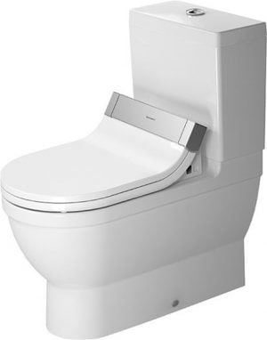 Duravit - Starck 3 Toilet Close Coupled 700mm Vario Outlet Washdown - White