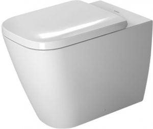 Duravit - Happy D.2 Toilet Floorstanding 570mm Washdown - White WonderGliss
