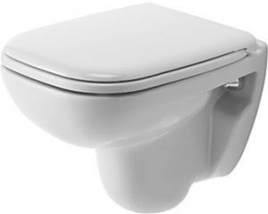 Duravit - D-Code Toilet Wall Mounted 480mm Compact Washdown - White