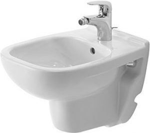 Duravit - D-Code Bidet Wall-Mounted 480mm Compact 1TH - White