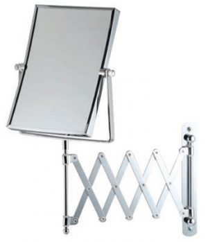 Bathroom Origins - Square Extendable Mag Wall Mirror - Chrome