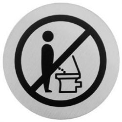 Bathroom Origins - Urban Steel Sign - Do Not Pee - Brushed