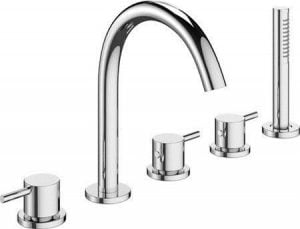 Crosswater - Mike Pro 5 Tap Hole Bath Shower Mixer with Kit - Chrome