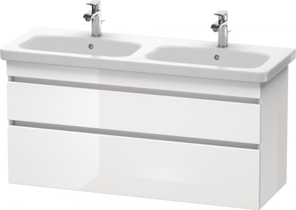 Duravit - DuraStyle Vanity Unit 610x1230x448mm Wall Mounted 2 Drawer - White High Gloss