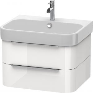 Duravit - Happy D.2 Vanity Unit Wall Mounted 380x625x480mm - White High Gloss