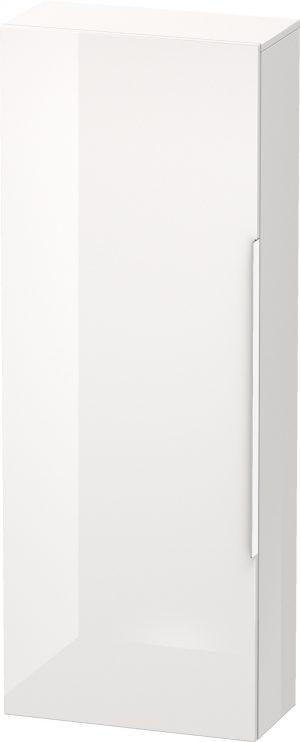 Duravit - Happy D.2 Semi-Tall Cabinet 1320x500x240mm LH Hinge - White High Gloss