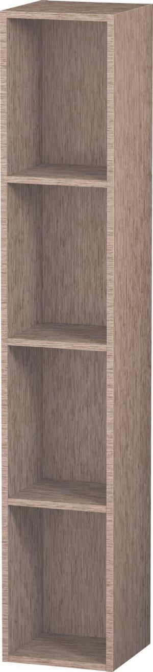Duravit - LC Shelf 4 Compartments 180x180x1000mm - Cashmere Oak