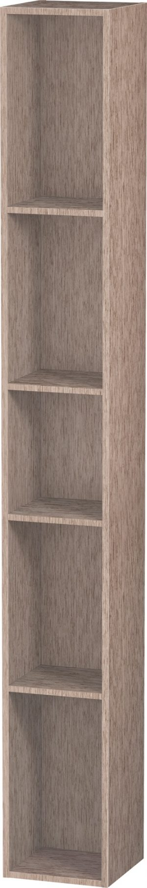 Duravit - LC Shelf 5 Compartments 180x180x1400mm - Cashmere Oak
