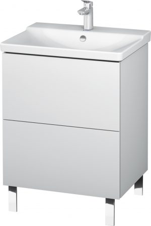 Duravit - L-Cube Vanity Unit Floorstanding 709x620x481mm - White Matt