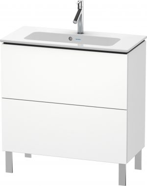Duravit - LC Vanity Unit 2 Drawer Floorstanding 704x820x391mm - White Matt