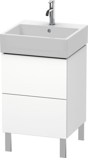 Duravit - LC Vanity Unit Floorstanding 2 Drawers 582x484x459mm - White Matt