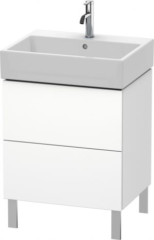 Duravit - LC Vanity Unit Floorstanding 2 Drawers 582x584x459mm - White Matt