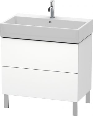 Duravit - LC Vanity Unit Floorstanding 2 Drawers 582x784x459mm - White Matt