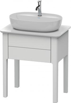 Duravit - LU Pro Vanity Unit 1 Drawer Floorstanding 688x450x743mm - White Satin Matt