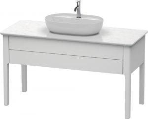 Duravit - LU Pro Vanity Unit 1 Drawer Floorstanding 1388x570x743mm - White Satin Matt