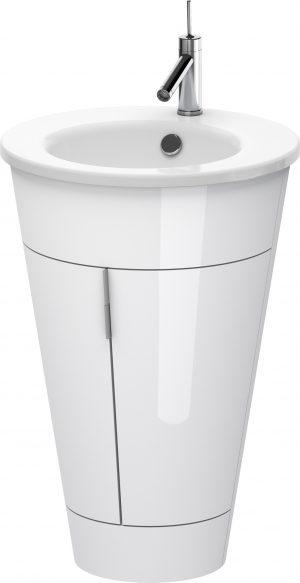 Duravit - Starck 1 Vanity Unit 600x560mm - White High Gloss Lacquer